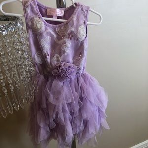 Beautiful purple ruffled dress